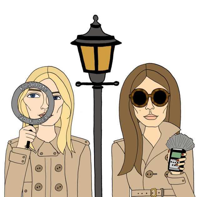 Représentation de Camille Charrière et Monica Ainley, créatrices du podcast Fashion No Filter