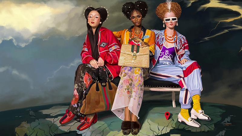 Ignasi Monreal pour Gucci – Campagne PE18 «GucciHallucination »