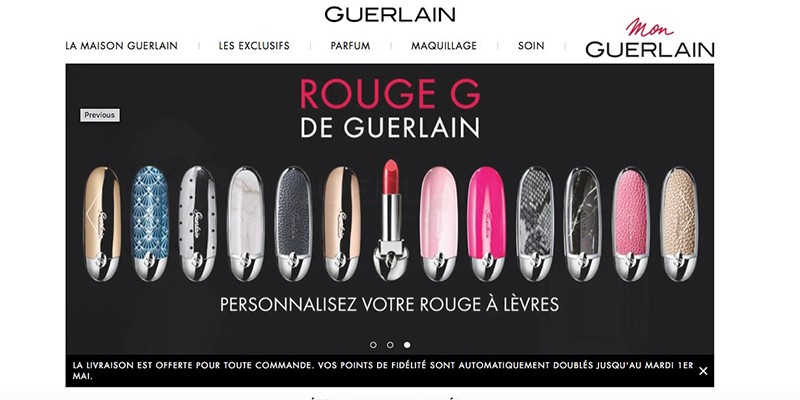 Configurateur Guerlain par Hapticmedia