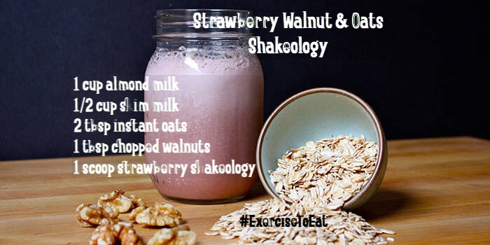 Breakfast of Champions! Super healthy shakeology recipe that will keep you going all day and reduce your cravings! www.exercisetoeat.net