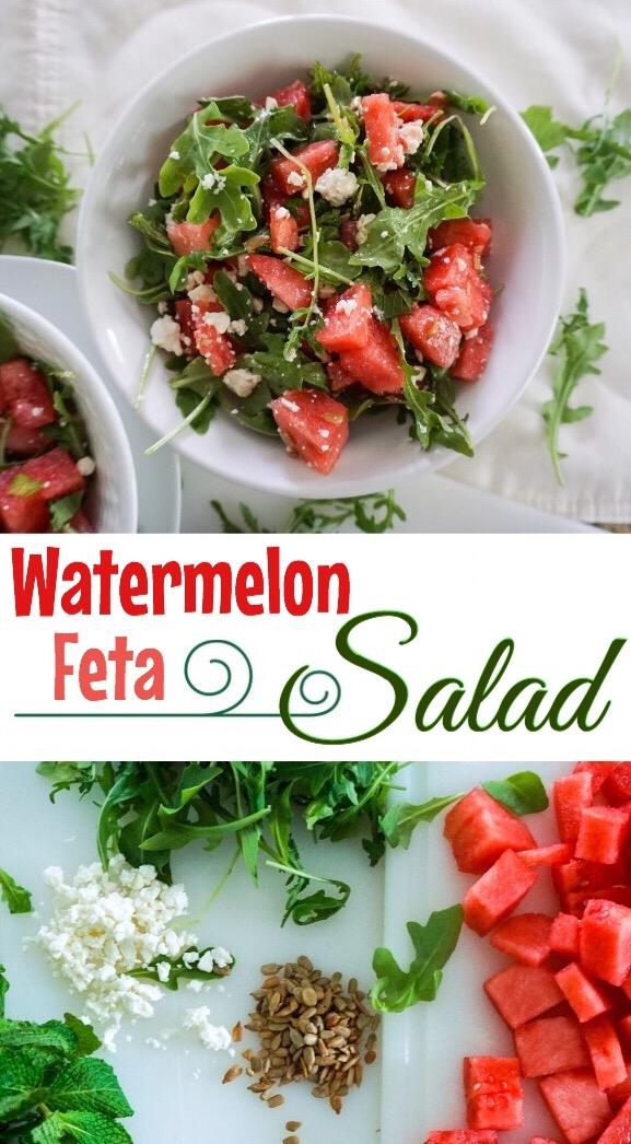Easy, delicious and filling! Watermelon 🍉 Feta Salad 🥗
