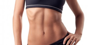 woman abs core 6 pack