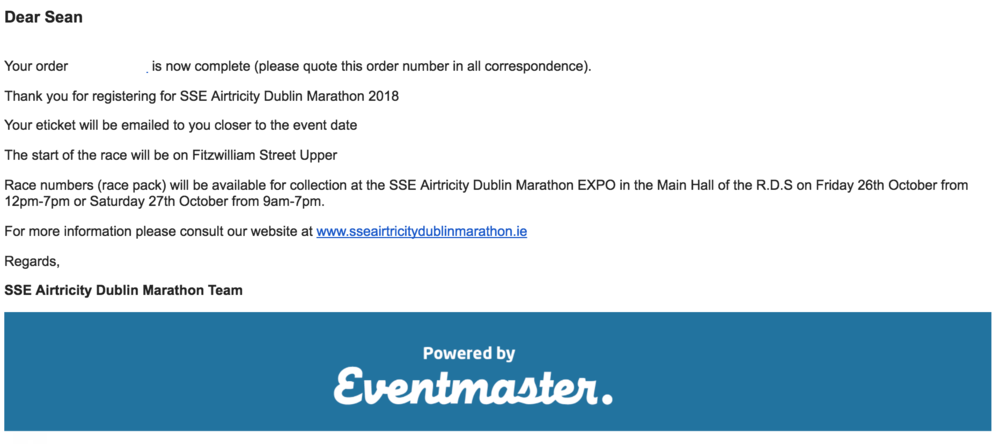 dublin city marathon 2018 entry form confirmed lets go