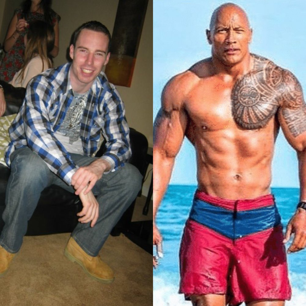 new years resolution 10 year challenge the rock weight loss fat loss nutrition workout
