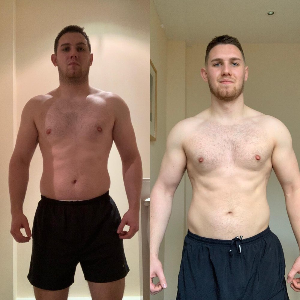 6 week online coach training transformation challenge sean weight loss fat programme great results strength gym