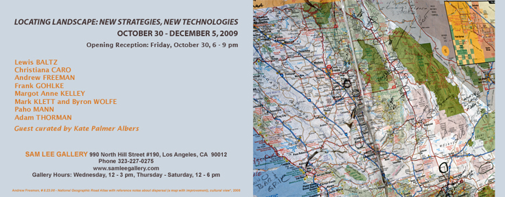 Sam Lee Gallery, October 30-Dec 5, 2009, LA, CA   Press Release    LA Times Review    American Quarterly    Afterimage
