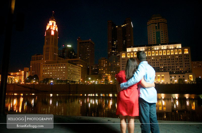 Columbus Ohio Skyline Engagement Session