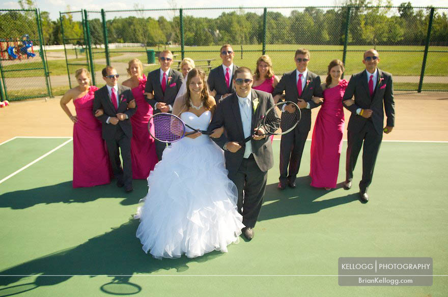Tennis Wedding Photos