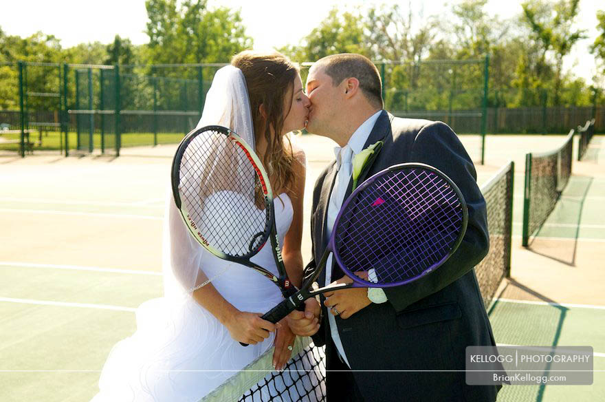 Tennis Wedding Photos