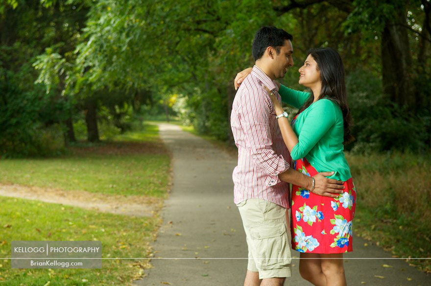 Park of Roses Engagement Photos