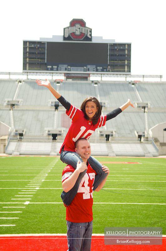 Engagement Session Ohio State Stadium