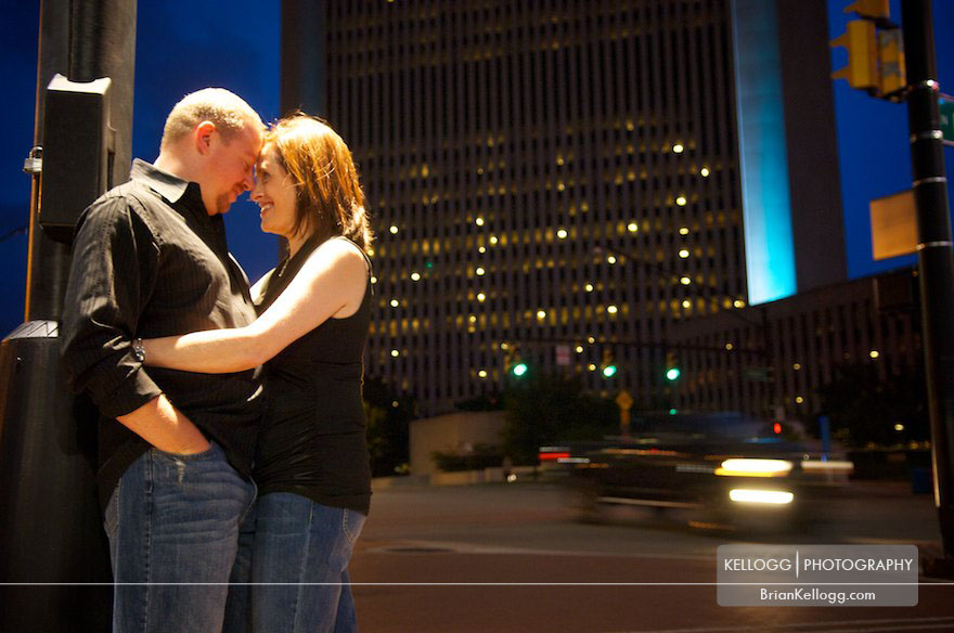 Columbus Ohio Downtown Engagement Photos