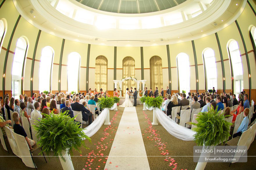 Walter Hall Rotunda Wedding Ceremony