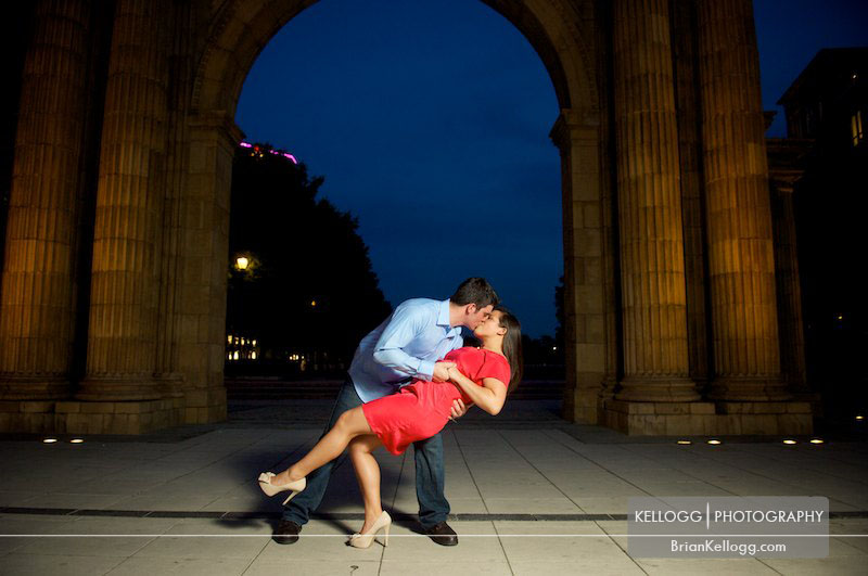 Columbus Ohio Archway Engagement Session