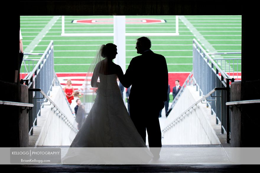 OSU Football Field Wedding