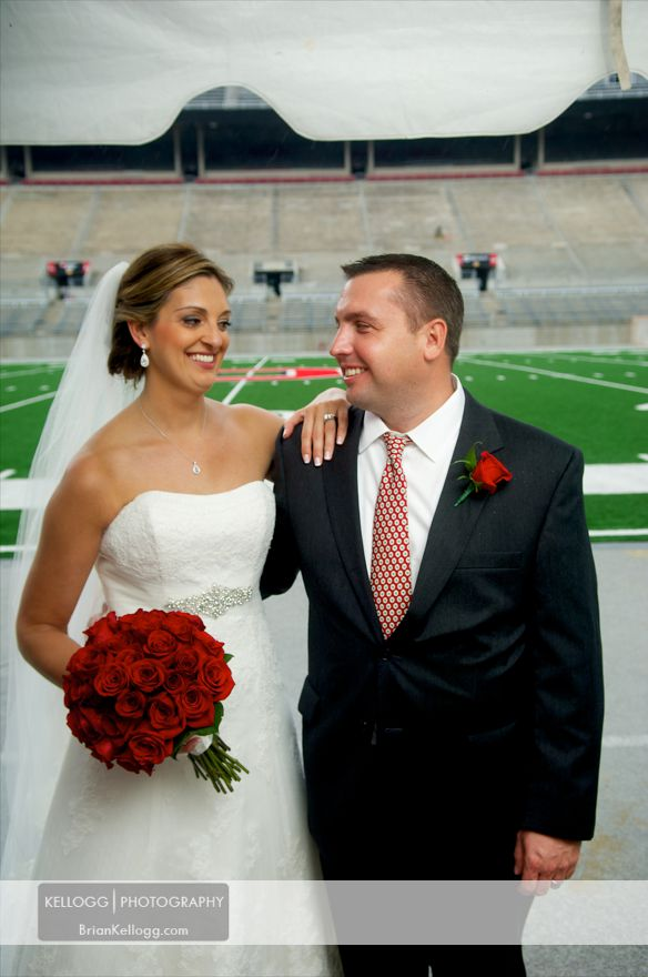 Ohio State University Football Field Wedding