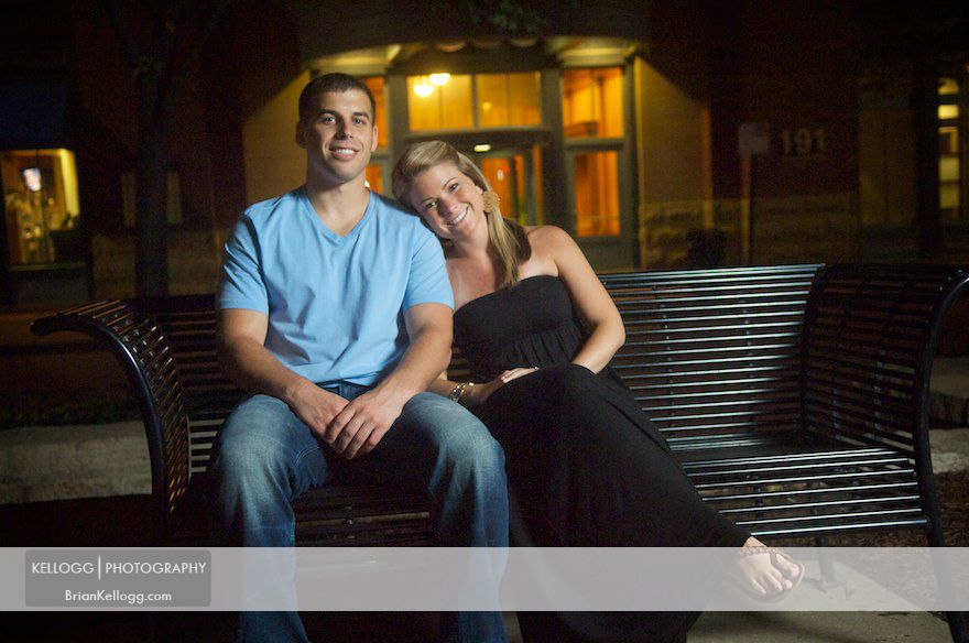 Columbus Ohio Engagement Photos Night