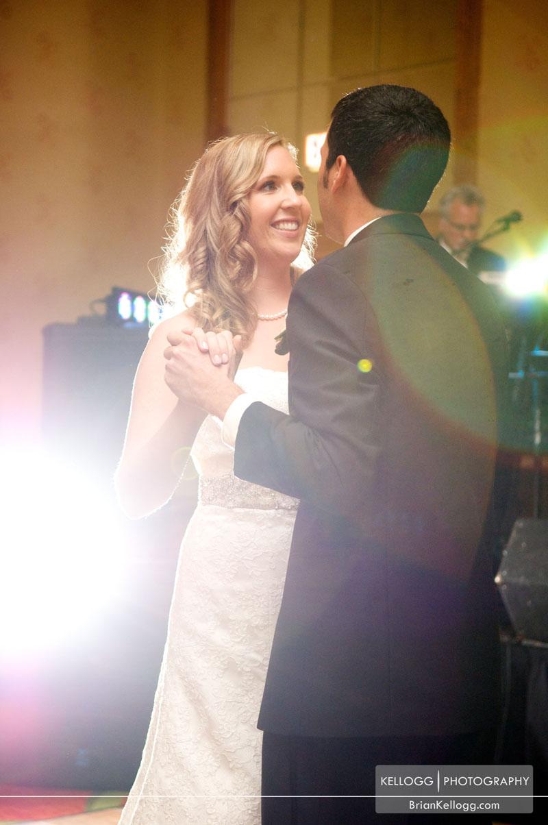 First Dance Spotlight Renaissance Hotel Wedding