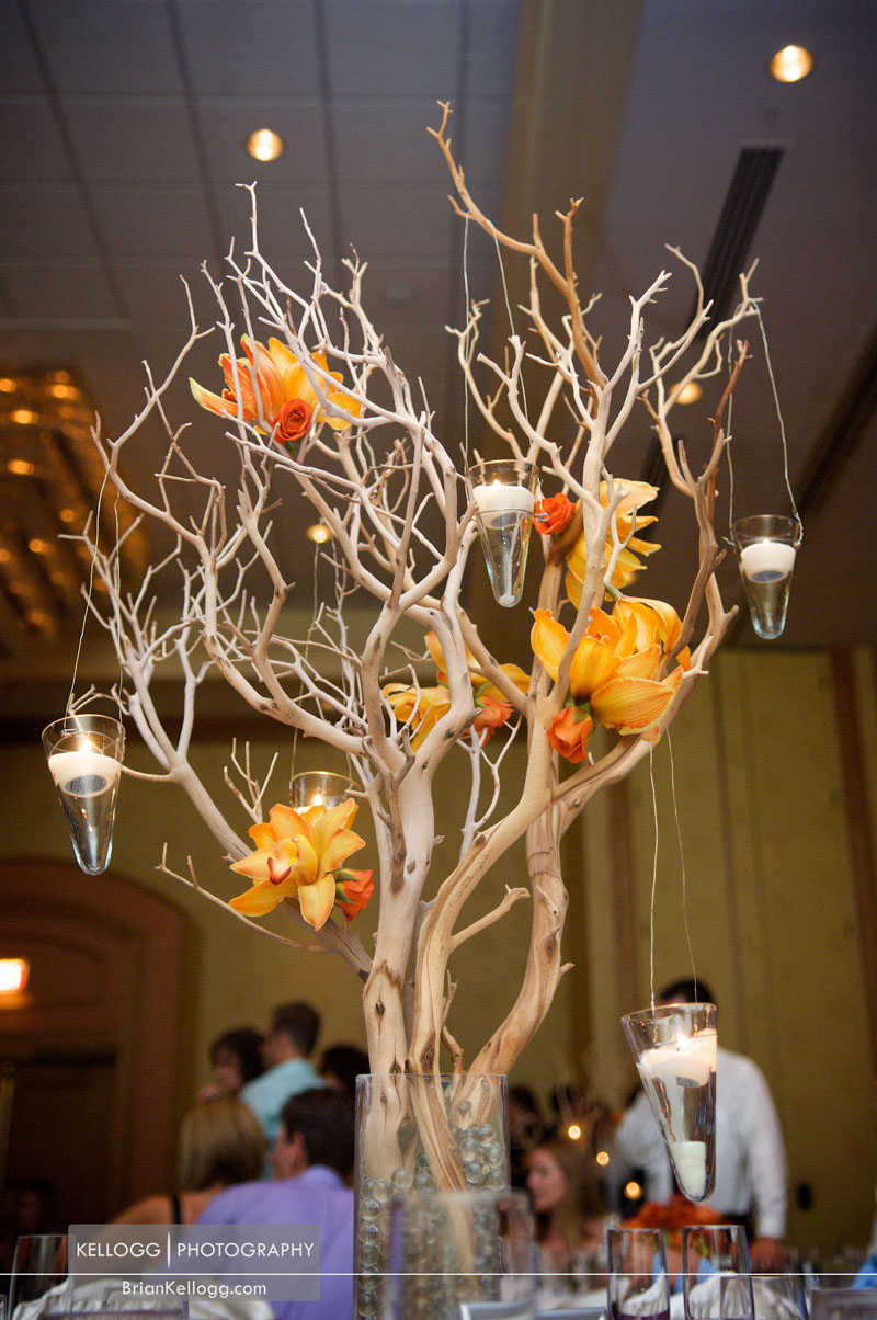 Wedding table tree candle centerpiece
