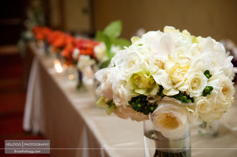Flowers head table Wedding