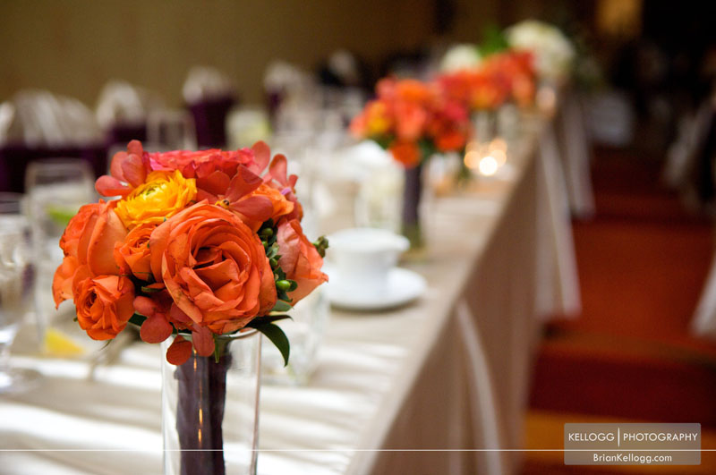 Bridesmaids flowers Renaissance Hotel Columbus Wedding