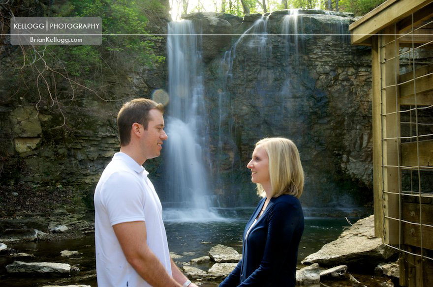 Hayden Run Falls Engagement Photo