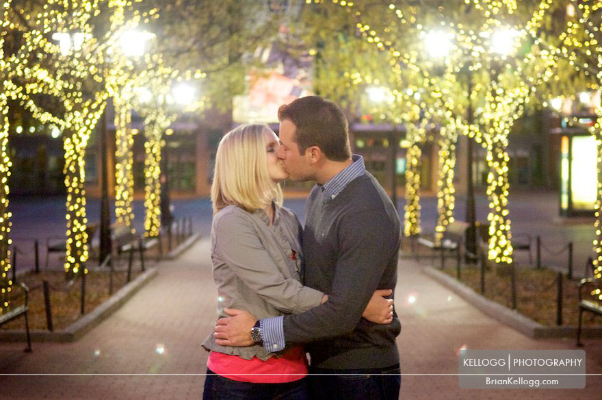 Downtown Columbus Ohio Engagement Photo