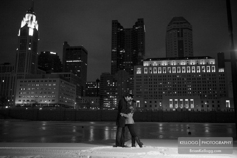 Columbus Skyline Engagement Photos