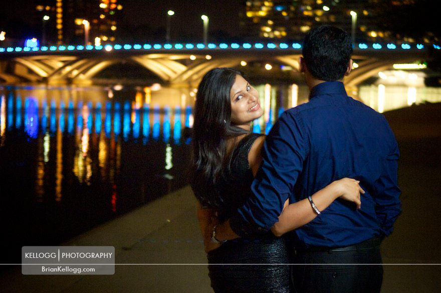Columbus Ohio Skyline Engagement Photos
