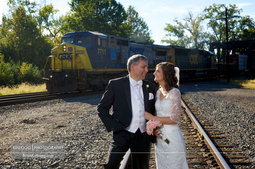 CSX Train Wedding