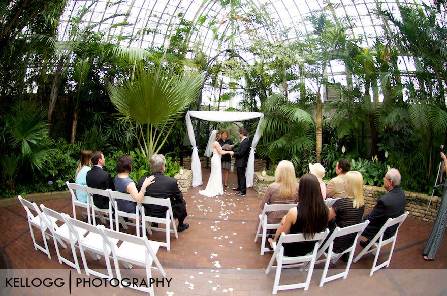 Franklin Park Conservatory Wedding Photo
