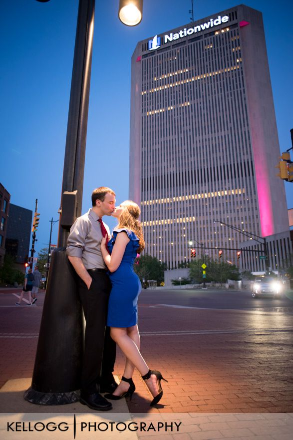 Night Engagement Session Columbus Ohio