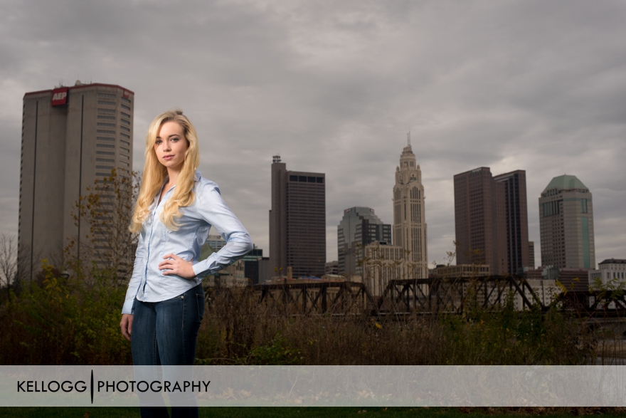 Columbus Ohio Skyline Senior Portraits