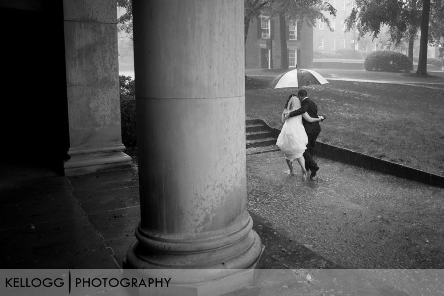 Athens Ohio Wedding in the Rain