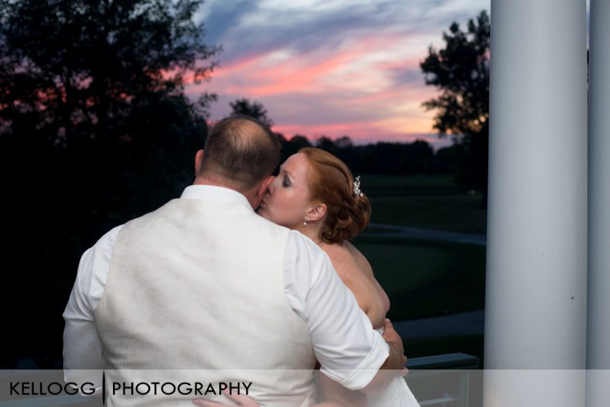 Heritage Golf Club Wedding Sunset