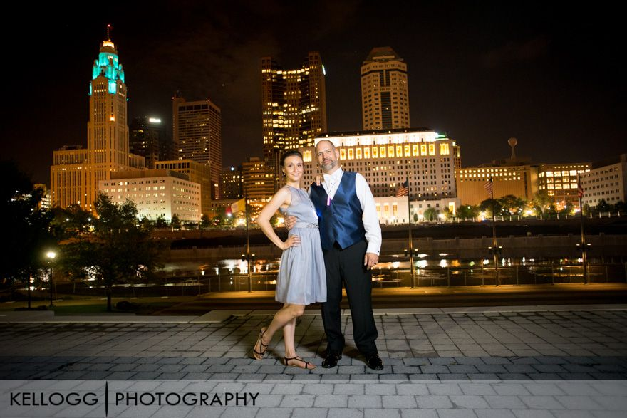 Columbus Ohio City View Wedding