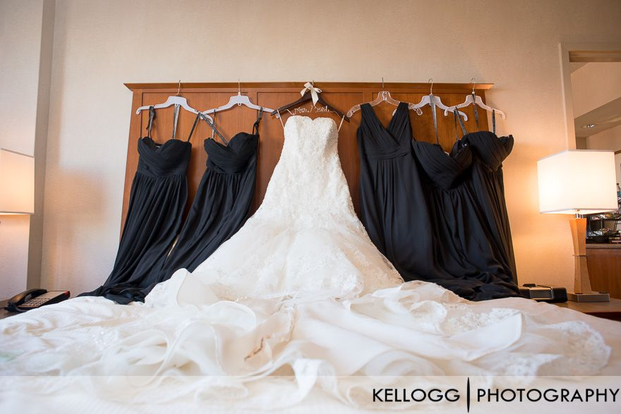 Wedding dresses in Hotel Room