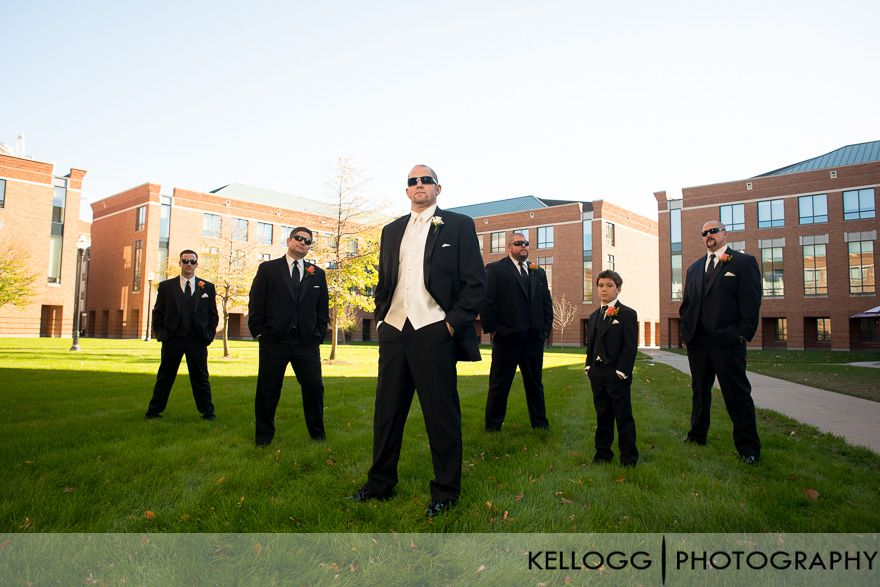 OSU Campus wedding party photos