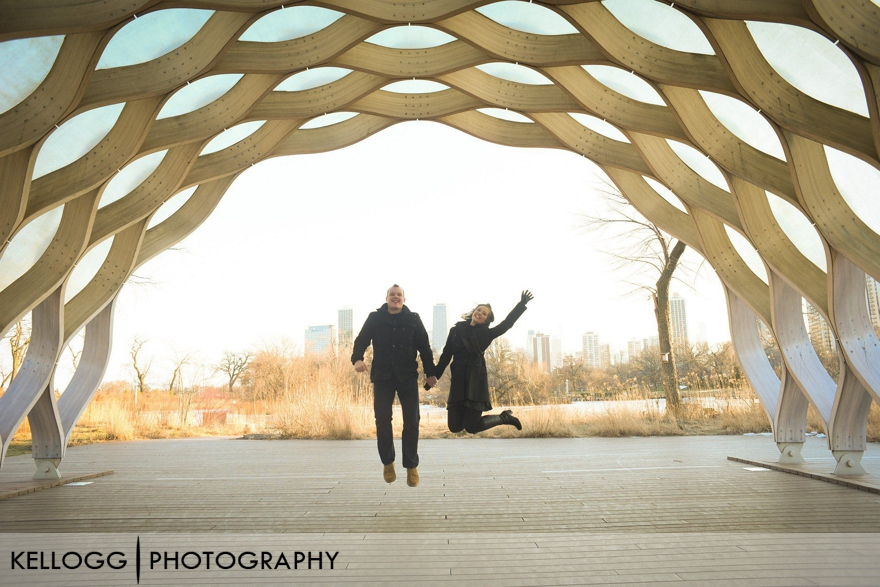 Chicago Honeycomb Engagement