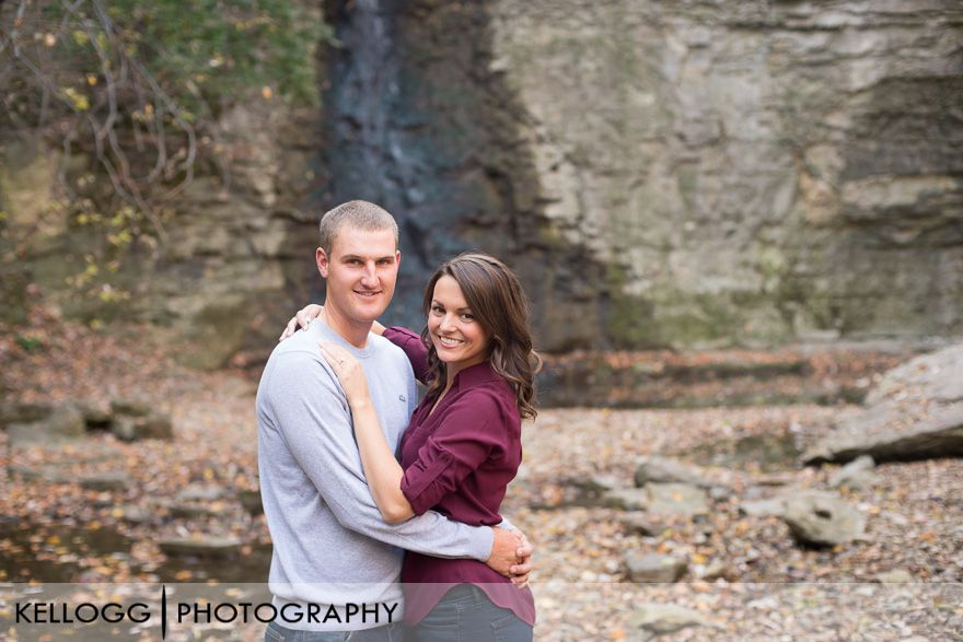 Hayden Run Falls Engagement Photos