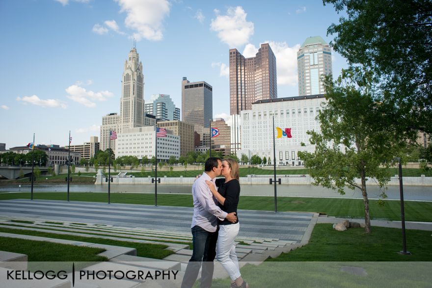 Columbus Skyline Engagement