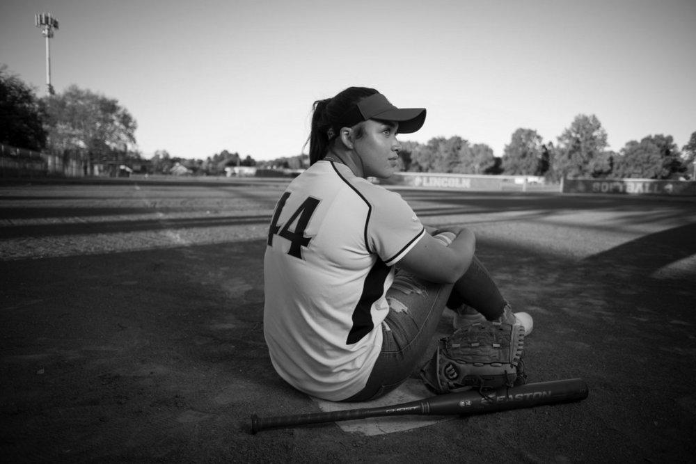 Columbus Ohio Softball Senior Portrait