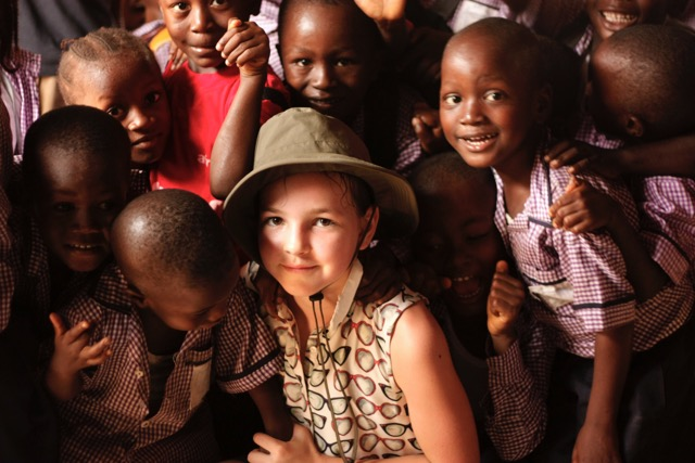 Rosie with her friends on her last trip to Sierra Leone