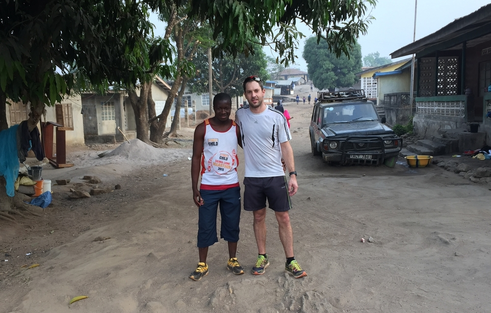Our original Race Director, Ben Hodgson (right) was instrumental in organising the first ever Sierra Leone Marathon in 2012. Here he is pictured with SLM16 Assistant Race Director Alusine Kanu.