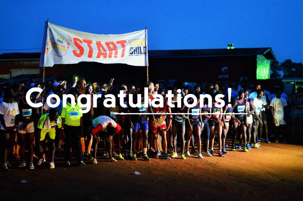 Congratulations to all 2016 runners!