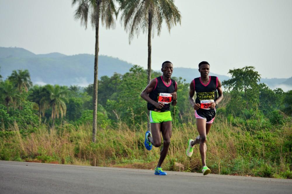 'Eskimo' running the Sierra Leone Marathon