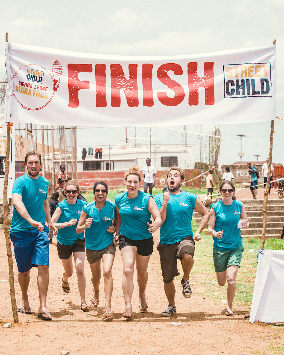 The ultimate employee engagement - take on the Sierra Leone Marathon for charity Street Child