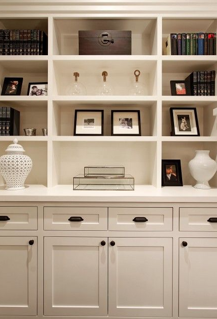 Inspiration Image for Built-In Shelf Update and Accessorizing.