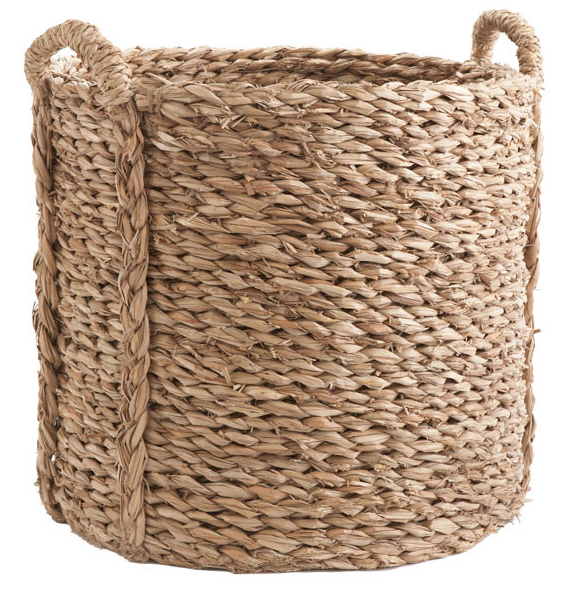 And the large woven basket we currently own, will be perfect for ourtennis shoes and go to sandals for our errands around Old Town. (Snow boots in the Winter!)