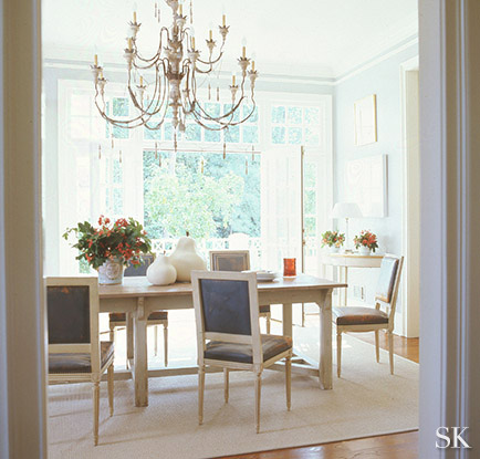 Above Dining Room designed by Suzanne Kasler